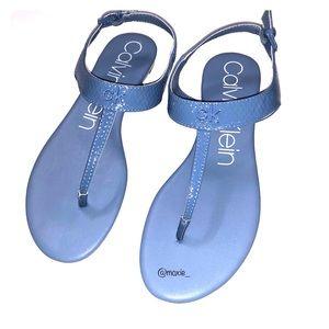 Calvin Klein baby blue thong sandals size 10